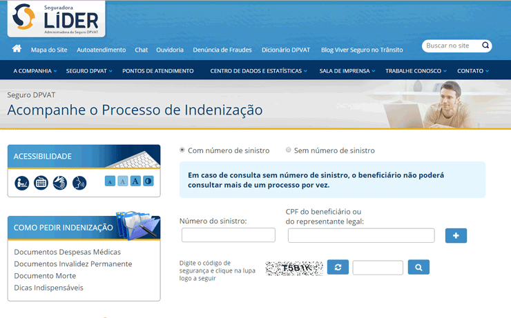 Consultar DPVAT pela Internet - Portal da Seguradora Líder
